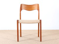 Set of four scandinavian chairs in teak, designed by Niels O. Møller, model 71
