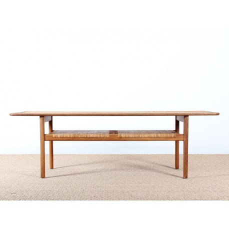Table basse scandinave en che ne de hans galerie m bler for Table basse chene scandinave