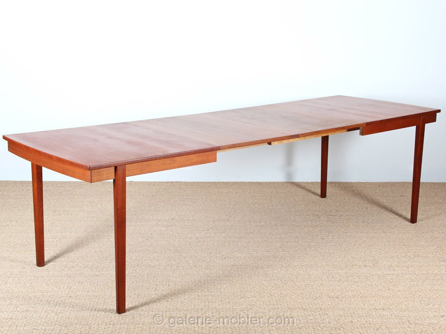scandinavian dining table in teak 8 10 seats galerie On table scandinave rectangulaire