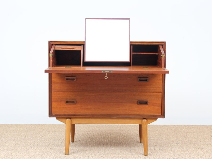 Commode secretaire scandinave en teck galerie m bler for Petit secretaire