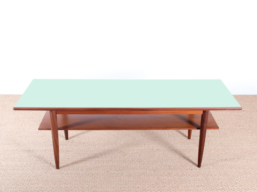 Table basse scandinave vert for Table scandinave en teck