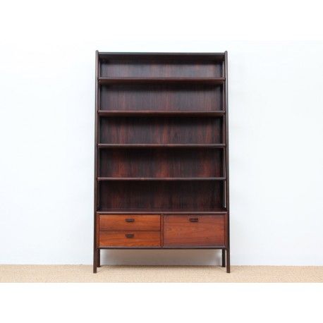 biblioth que scandinave en palissandre de rio avec caisson galerie m bler. Black Bedroom Furniture Sets. Home Design Ideas