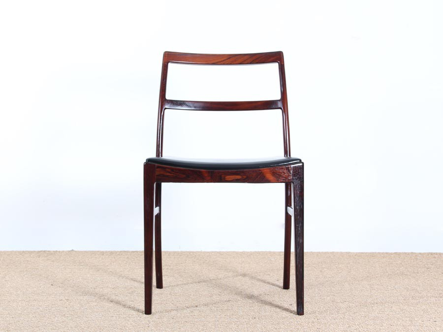 6 scandinavian chairs in rio rosewood by arne vodder model - Chaises scandinaves vintage ...