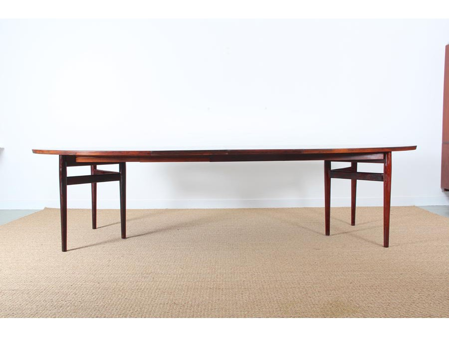 Grande table de repas scandinave en palissandre de rio 8 for Table repas scandinave