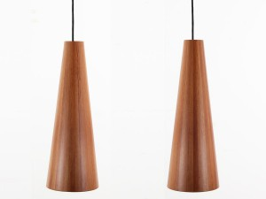 2 danish modern ceilling lamps by Jørgen Wolf