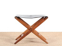 Danish mid-century folding stool by Östen Kristiansson