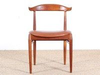 Danish mid-century modern cow horn chair by Knud Faerch