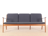 Danish mid-century modern sofa 3 seats  by Ole Wanscher