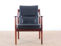Pair of Scandinavian easy chairs in Rio rosewood, N 431