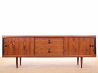 Danish mid-century modern sideboard in Rio rosewood by H. W. Klein