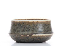 Rorstrand Round Bowl, Brown/Tan Mottled Glaze