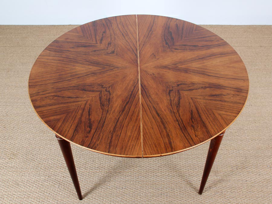 danish modern dining table round chairs