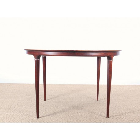 Danish Mid Century Modern Round Dining Table By Illum Wikkels
