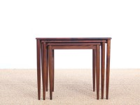 Mid-Century Modern Danish nesting tables in Rio rosewood