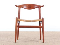 Cow horn chair in teak by Hans Wegner for Johannes hansen