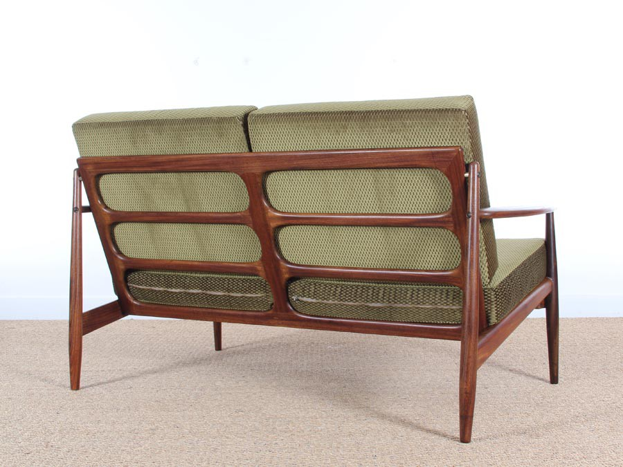 Danish Modern 2 Seats Sofa In Teak