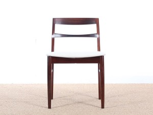 Mid-Century Modern scandinavian set of 4 Rio rosewood chairs by  henning kjaernulf