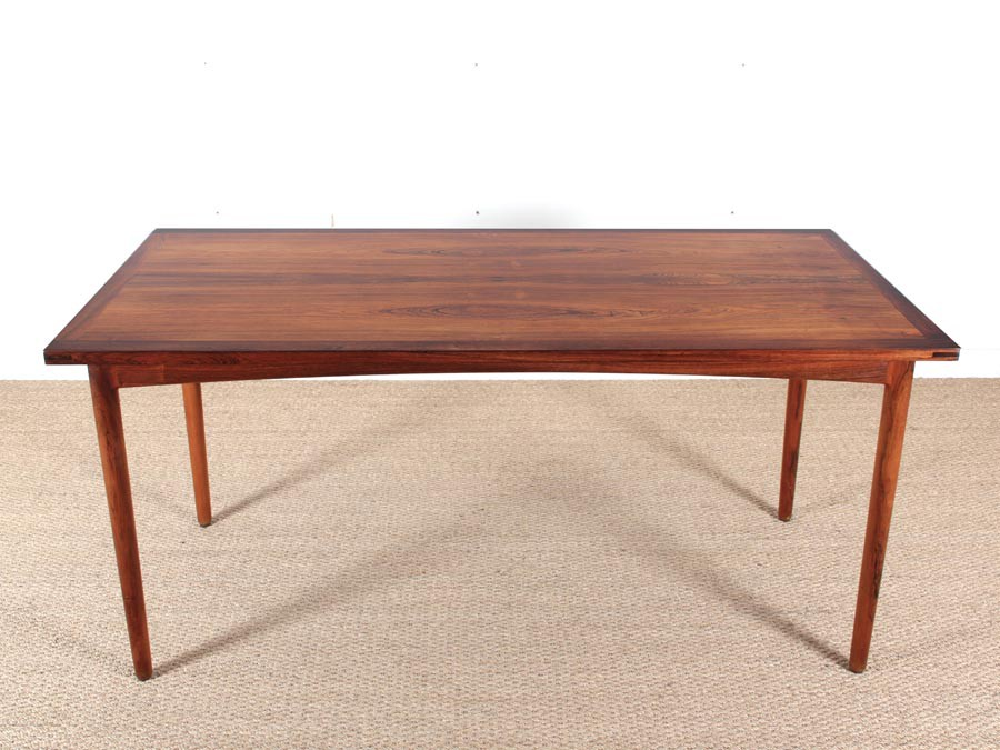 Mid Century Modern Scandinavian Dining Table In Rio Rosewood Galerie
