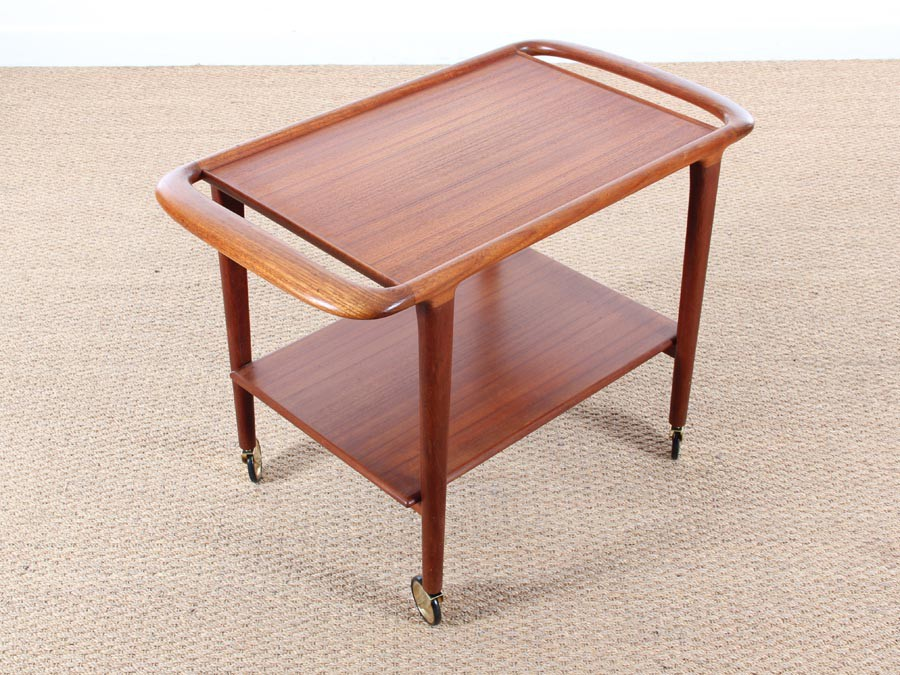Rosewood Trolley Coffee Table Designed By Niels O Møller
