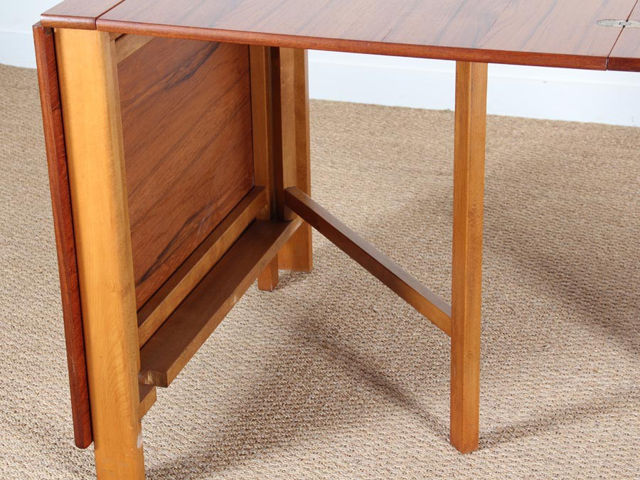 Table console scandinave pliante mod le maria en teck 10 - Comment faire une table pliante ...
