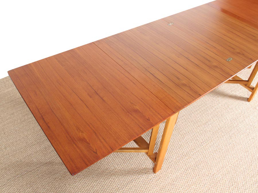 Table console scandinave pliante mod le maria en teck 10 - Table pliante teck ...