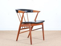 Mid-Century Modern scandinavian set of 4 chairs in teak by Helge Sibast