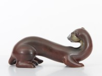 Scandinavian ceramic. Ferret by Gunar Nylund