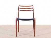 Set of 6 Scandinavian rosewood chairs N° 78 by  Niels O. Møller