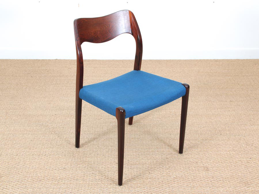 mid century modern set of 4 chairs in rio rosewood model 71 by