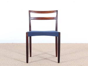 Mid-Century Modern scandinavian set of 4 dining chairs in Rio rosewood by Harry Østergaard