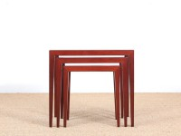 Mid-Century  modern  nesting tables in mahogany by Severin Hansen