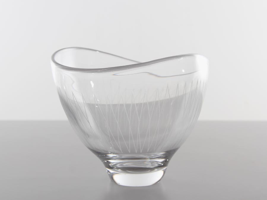Mid Century Modern Glass Bowl By Vicke Lindstrand For