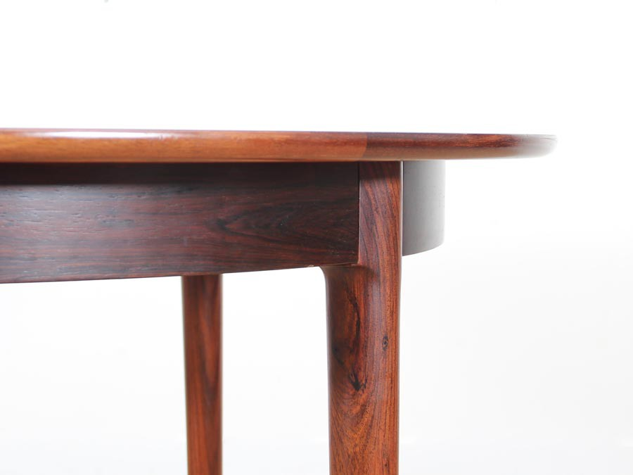 mid-century modern danish extendable round dining table in rio