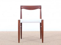 Danish mid-century modern set of 4 chairs in Rio rosewood by H. W. Klein