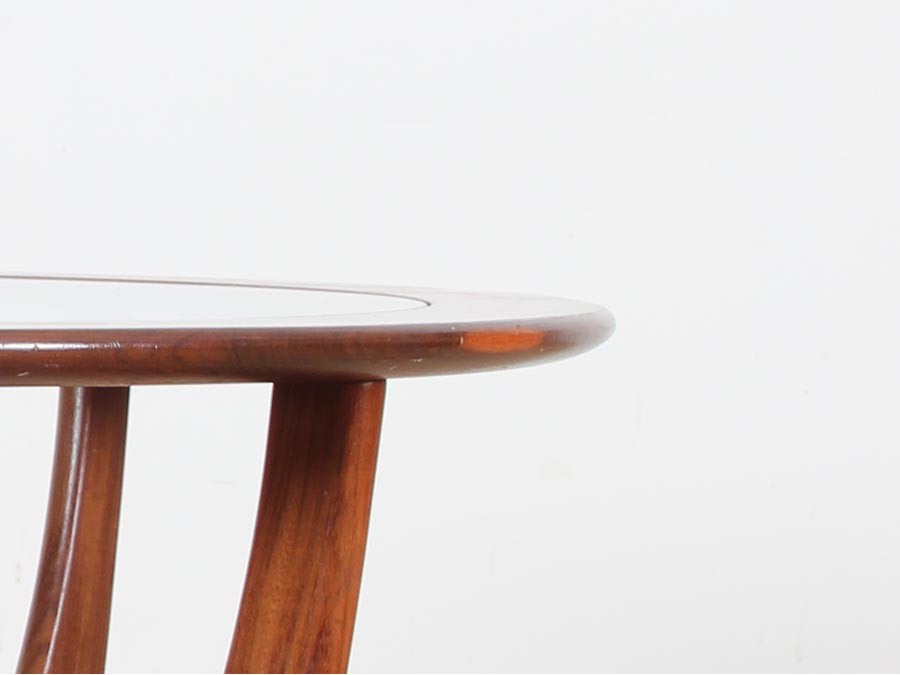 Table basse scandinave en verre - Table basse ronde en verre ...