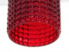 Suspension scandinave en verre rouge