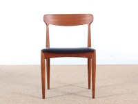 Mid century modern set of 4 Scandinavian teak chairs