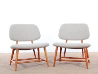 Mid-Century  modern  pair of TV chairs by  Alf Svensson