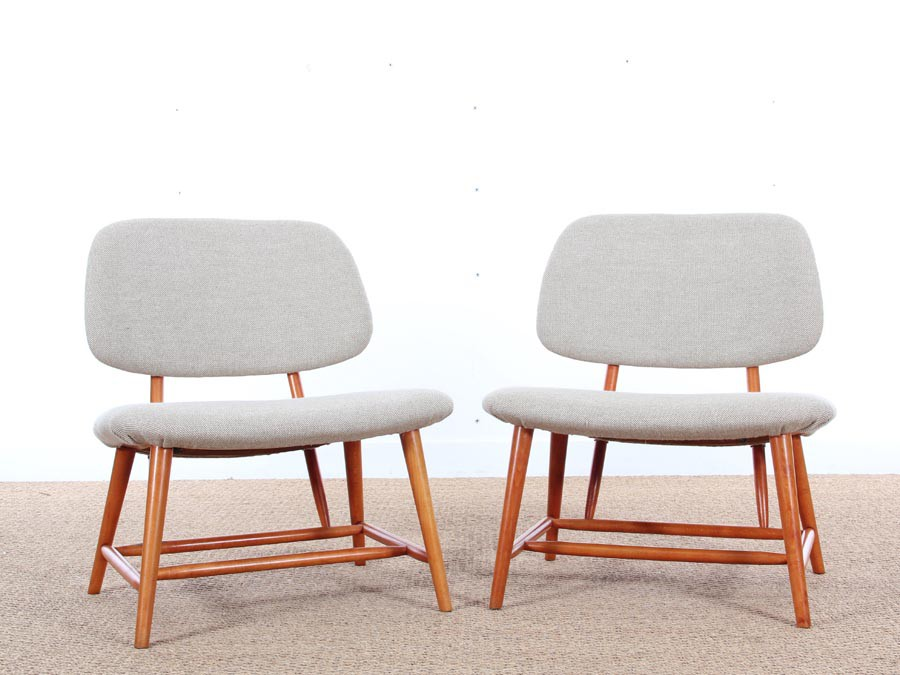 Mid Century Modern Pair Of TV Chairs By Alf Svensson