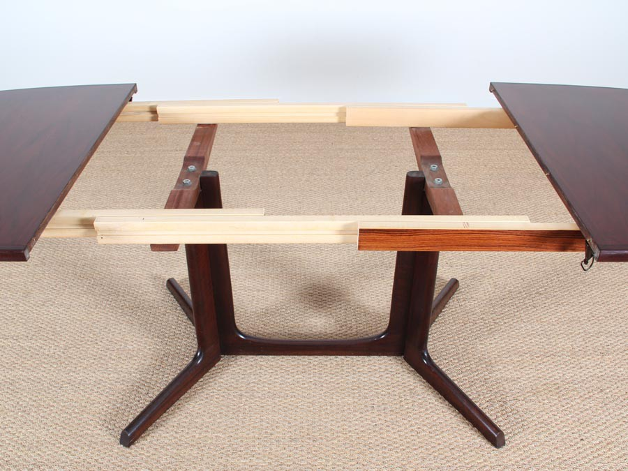 Table de repas scandinave extensible en palissandre 6 10 for Table repas scandinave