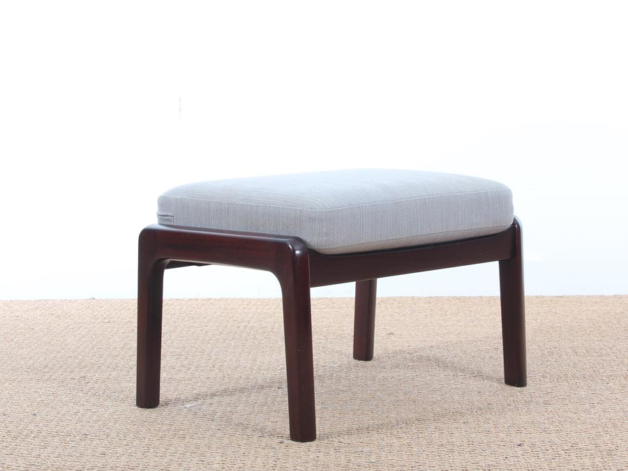 ... Mid Century Modern Danish Foot Rest In Mahogany For Lounge Chair Model  PJ 112 By ...