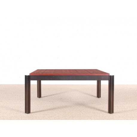 Table basse scandinave carr e en marqueterie galerie m bler for Table basse scandinave carree