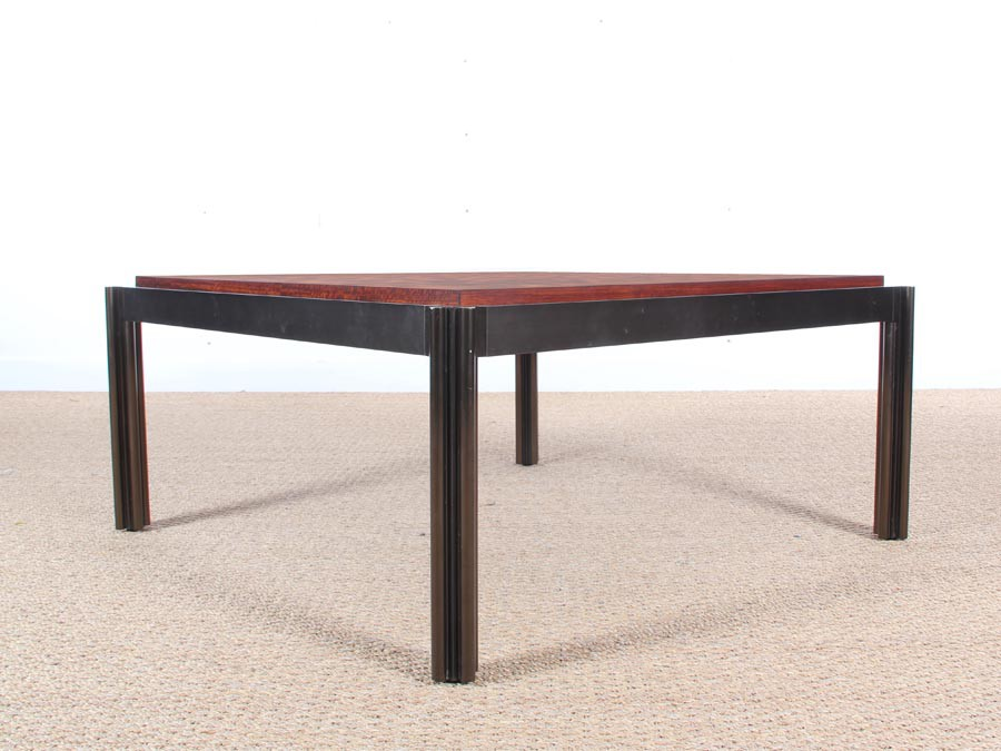 Table basse scandinave carr e en marqueterie galerie m bler for Table carree scandinave