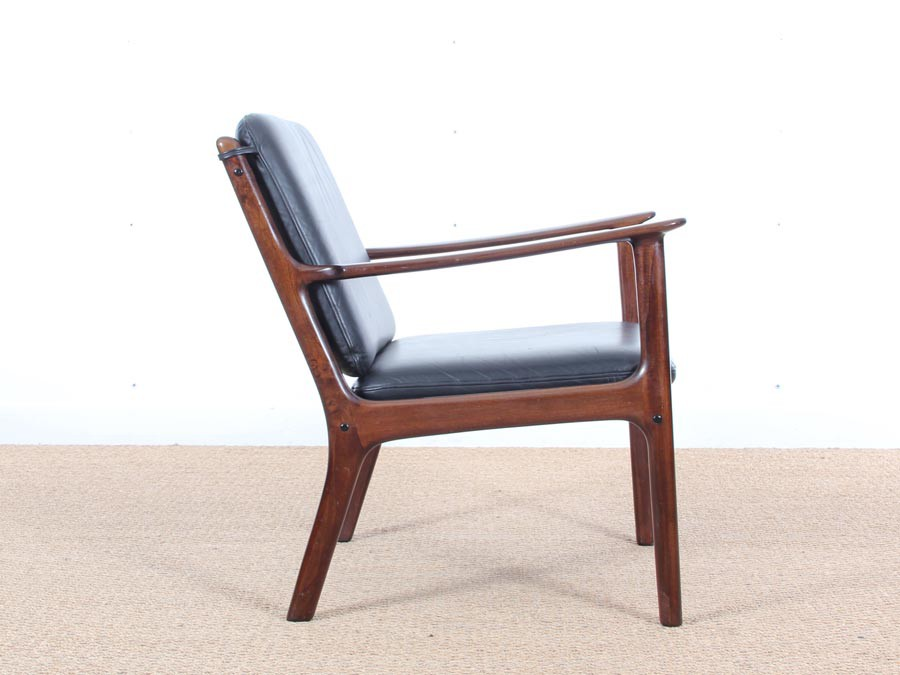 ... Mid Century Modern Danish Lounge Chair In Mahogany Model PJ 112 By Ole  Wanscher ...