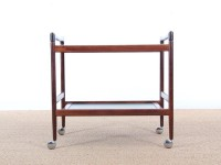 Mid-Century danish serving cart in mahogany by Dyrlund