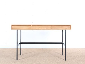 "standing desk in solid oak with 3 drawers model ""Roman"""