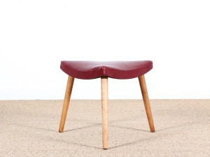 Mid-Century  modern danish 3 legs stool in oak