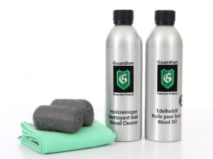 Furniture care kit for wood oiled furniture