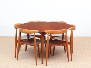 Heart dining set de Hans Wegner