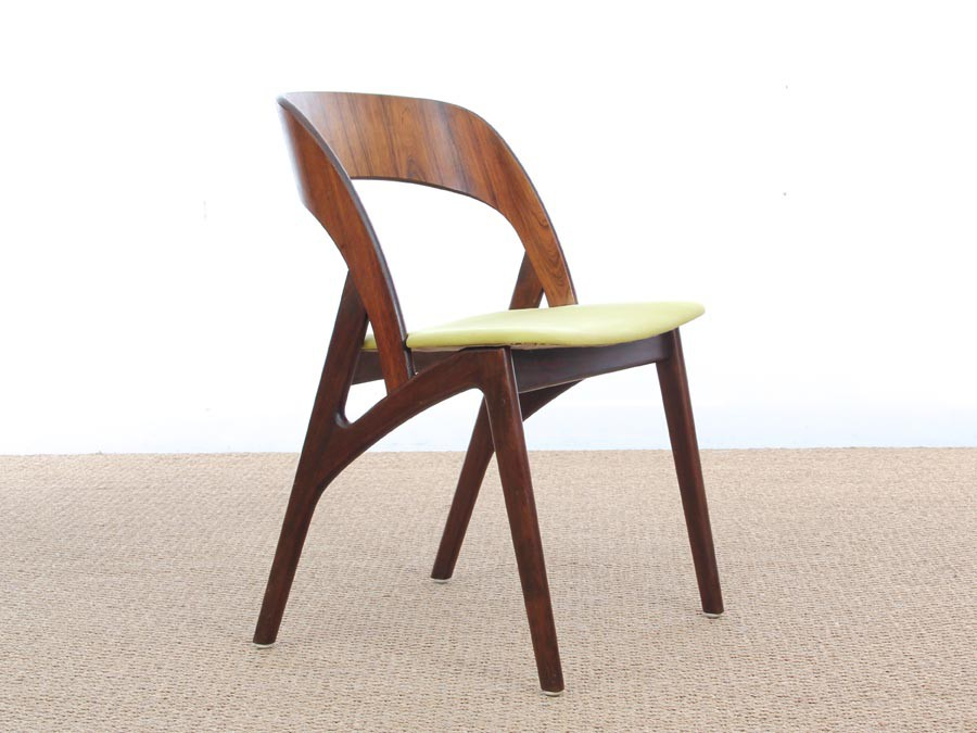 Mid Century Modern Danish Set Of 4 Dining Chairs In Rio Rosewood Galerie M
